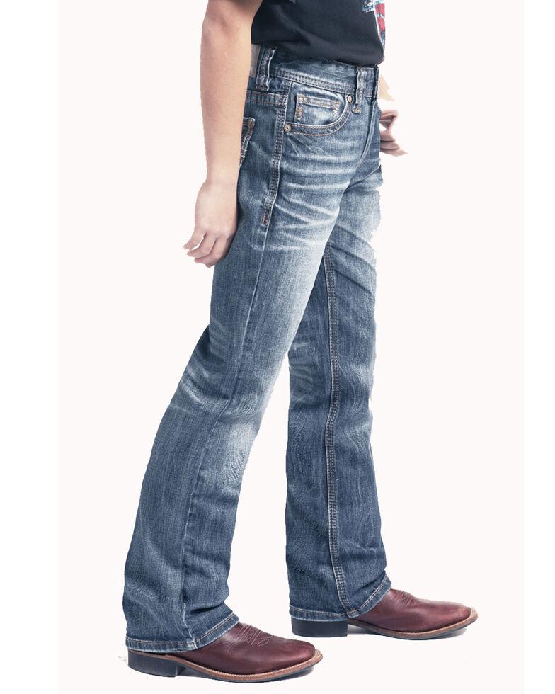 Rock & Roll Cowboy Boys' Large V Reflex Boot Jeans , Blue, hi-res