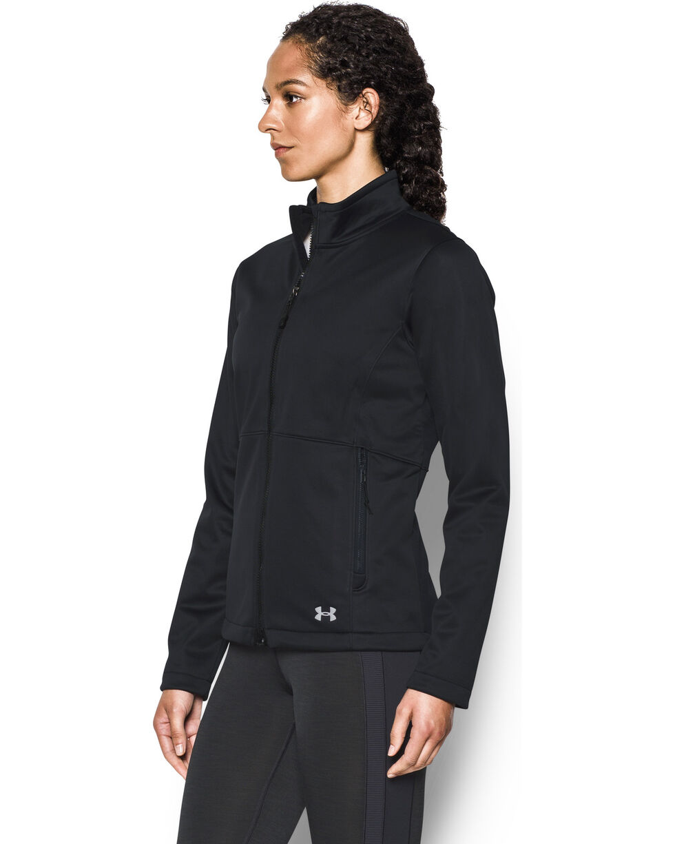 Under Armour Women's Coldgear Infrared Softershell Jacket, Black, hi-res