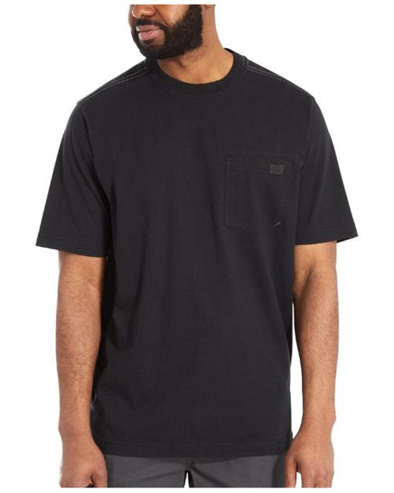 Wolverine Men's Solid Black Guardian Short Sleeve Work Pocket T-Shirt , Black, hi-res