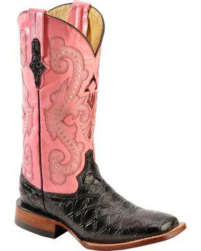 Ferrini Women's Anteater Print Square Toe Western Boots, Black, hi-res