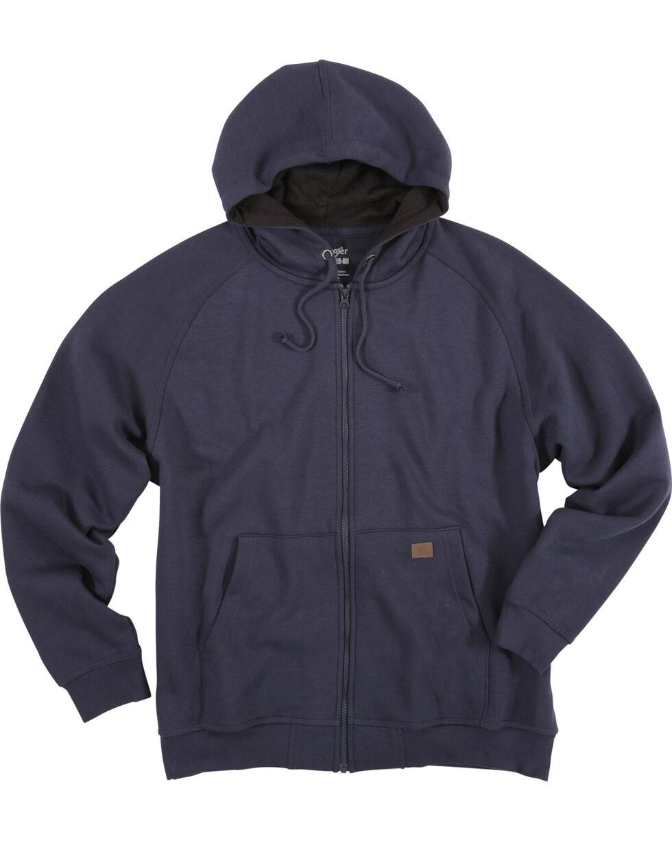 Wrangler Men's Navy Riggs Workwear Full Zip Hoodie, Navy, hi-res