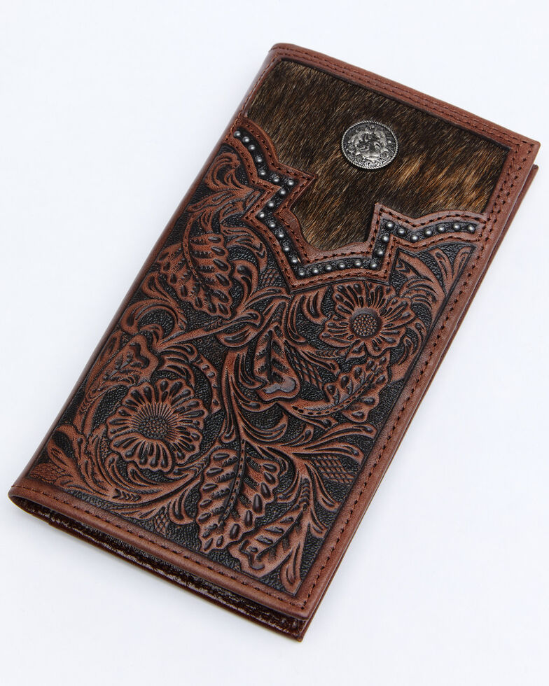 Cody James Men's Hair-On Rodeo Wallet, Brown, hi-res