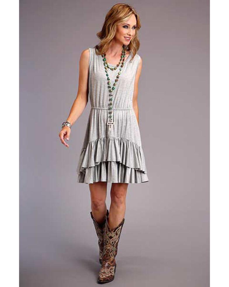 Stetson Women's Grey Knit Ruffle Dress , Grey, hi-res