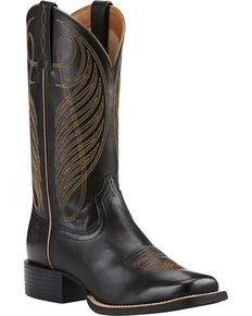 Ariat Women's Round Up Western Boots, Black, hi-res