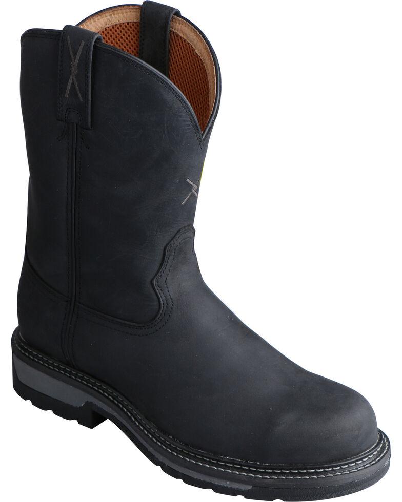 Twisted X Black Lite Cowboy Work Boots - Soft Round Toe, , hi-res