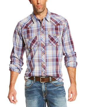 Ariat Men's Plaid Long Sleeve Shirt, Multi, hi-res