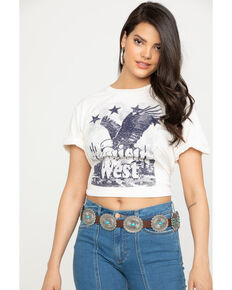 Wrangler Women's Cruisin' West Eagle Graphic Tee, White, hi-res