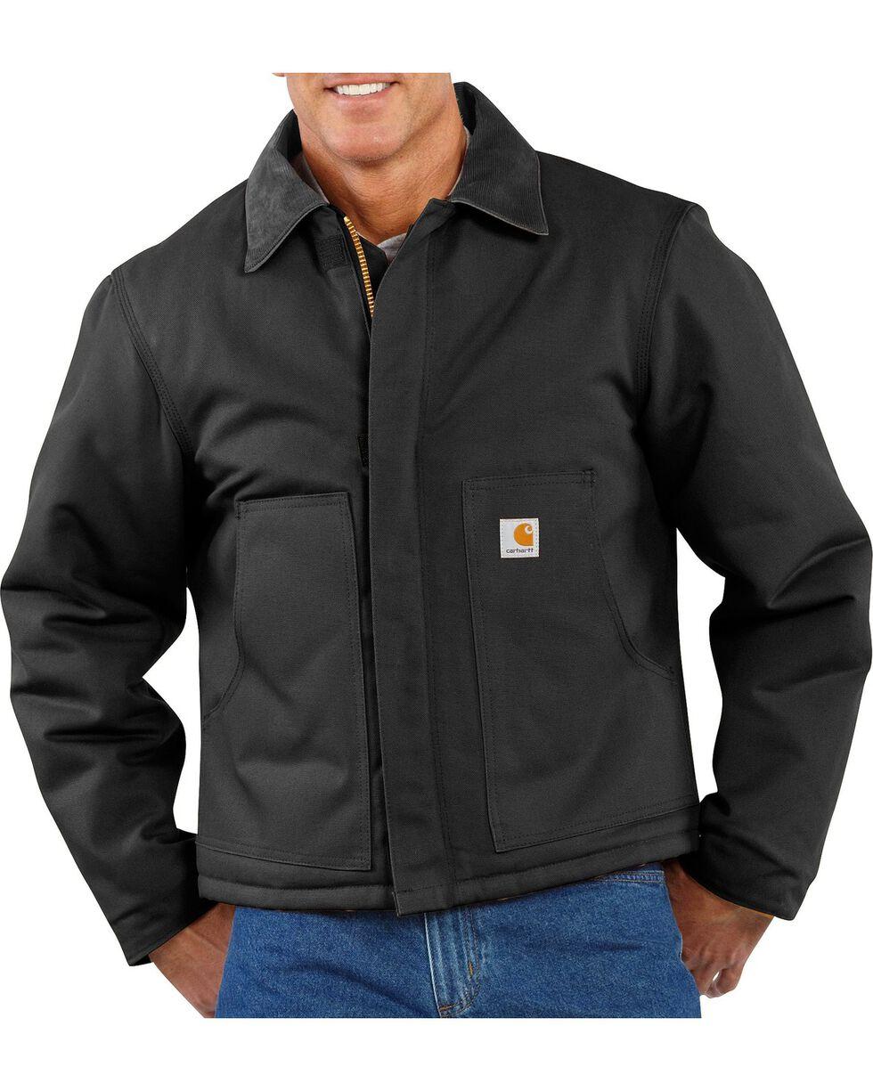 Carhartt Men's Duck Traditional Jacket, Black, hi-res