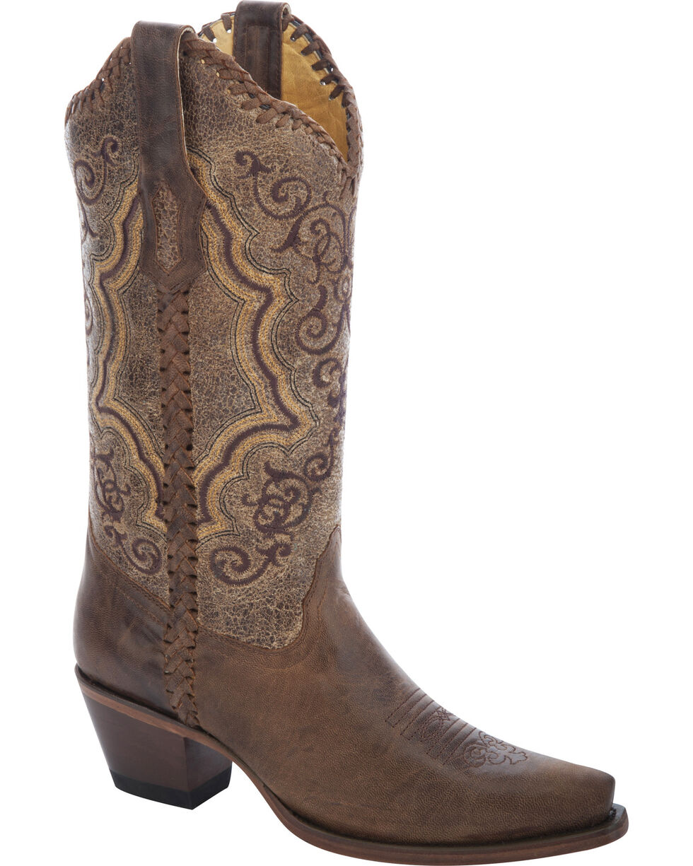 Corral Women's  Distressed Whipstitch Western Boots, Distressed, hi-res