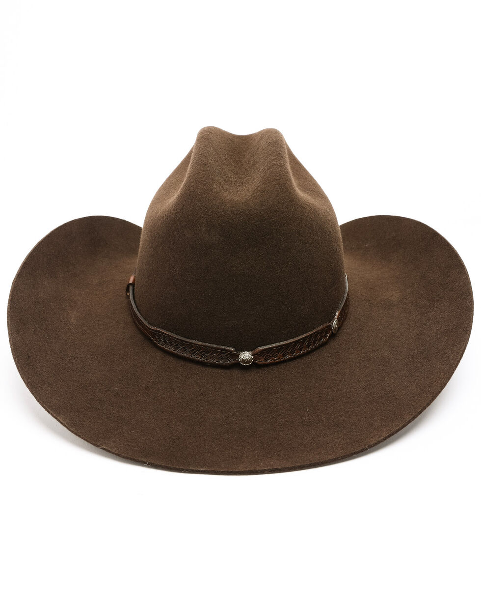 Cody James Boys' Rambler Shovel Cowboy Hat, Brown, hi-res