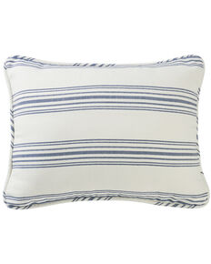HiEnd Accents Prescott Navy Stripe Pillow Sham Set - Queen , Navy, hi-res