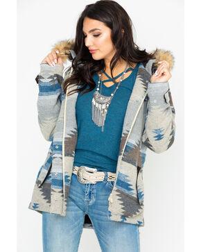 Outback Trading Women's Aztec Fur Hood Mrya Jacket , Cream, hi-res
