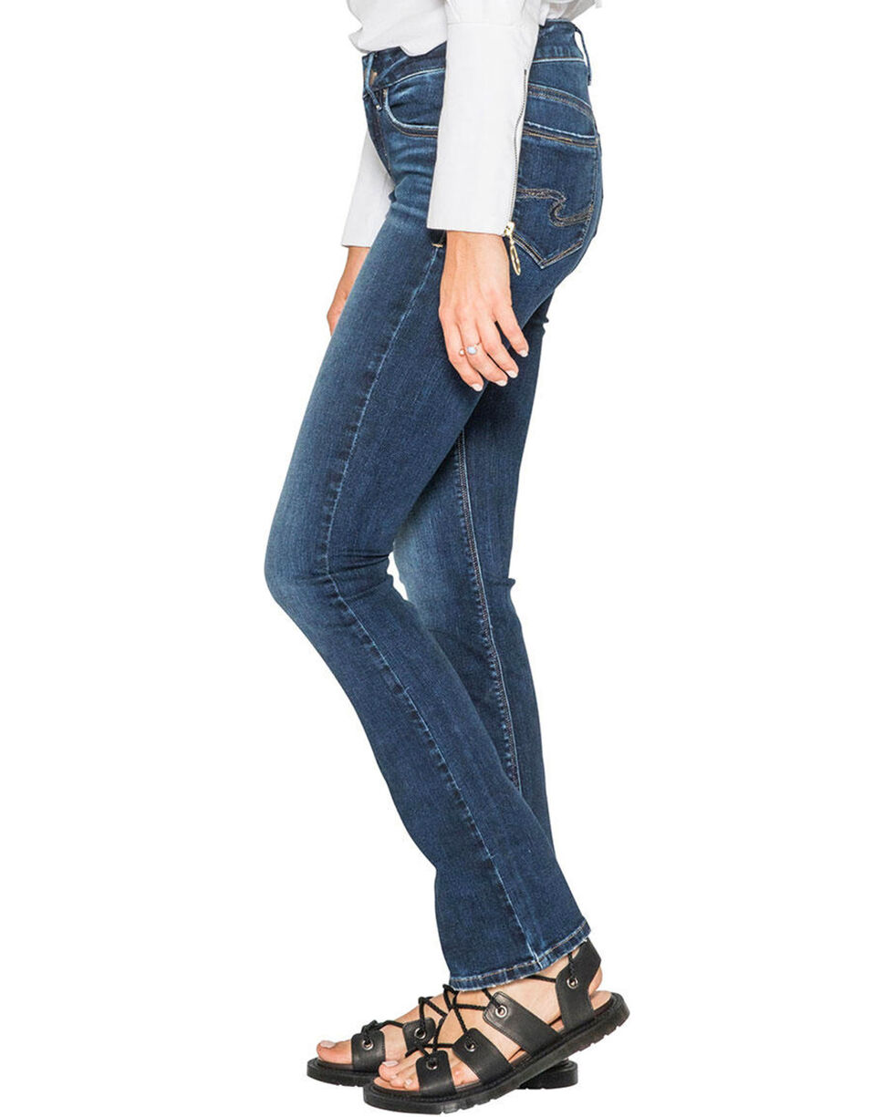 Silver Women's Indigo Avery Super Stretch Jeans - Slim Boot Cut , Indigo, hi-res