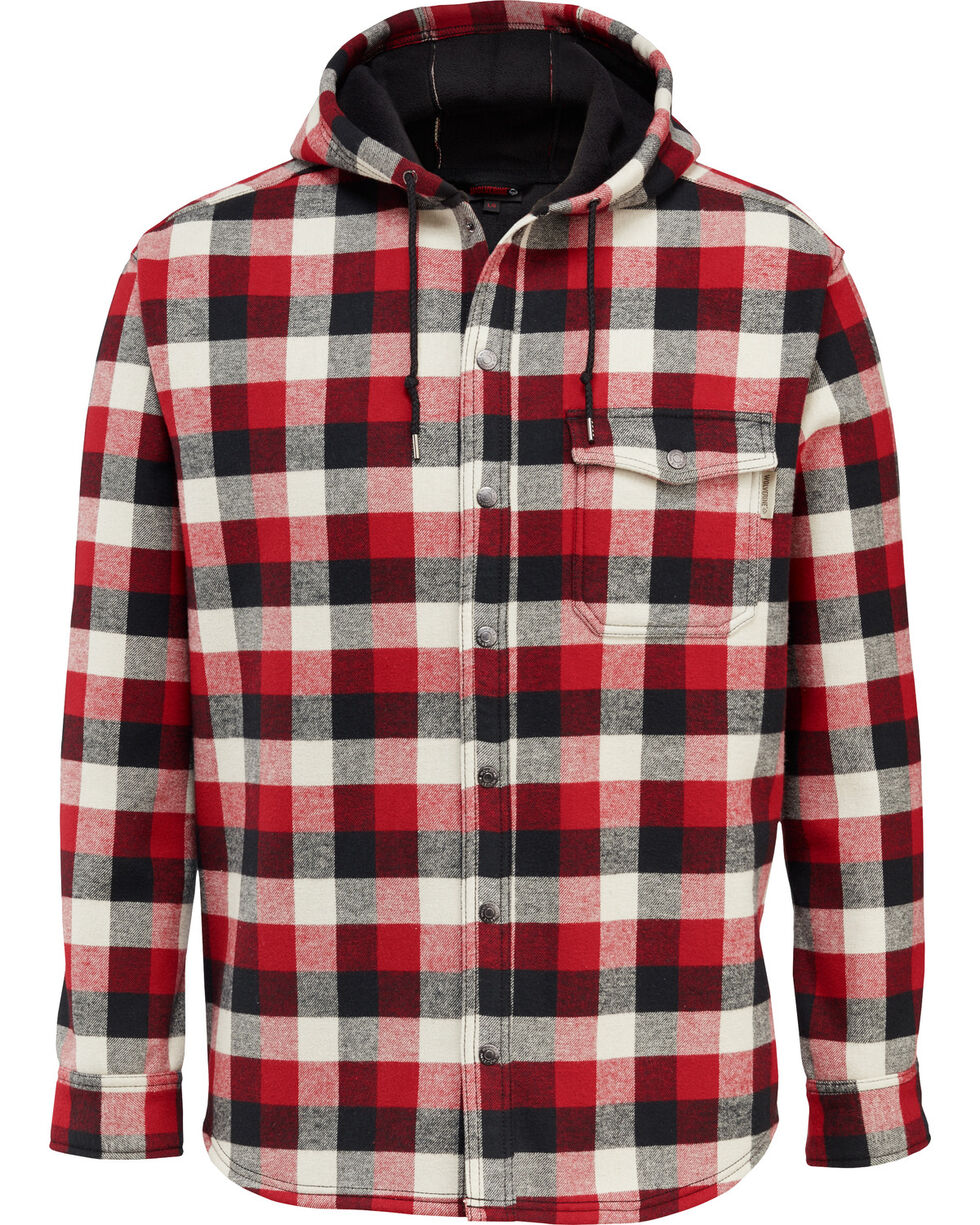 Wolverine Men's Bucksaw Bonded Shirt Jac , Red, hi-res