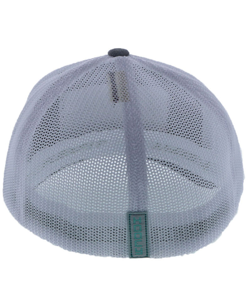 HOOey Youth Cactus Ropes Patch Flex Fit Ball Cap , Grey, hi-res