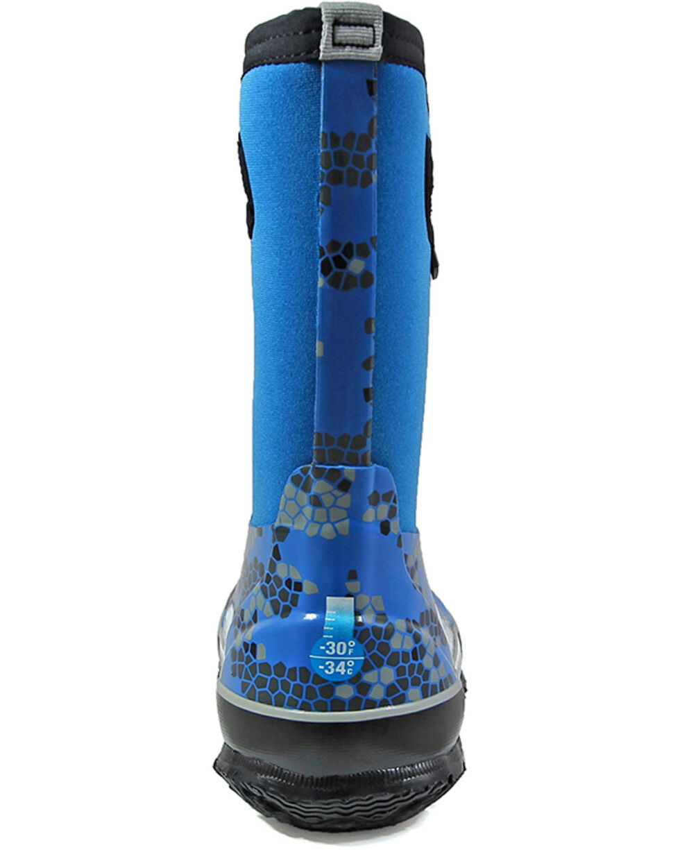 Bogs Girls' Classic Axel Waterproof Boots - Round Toe, Royal Blue, hi-res