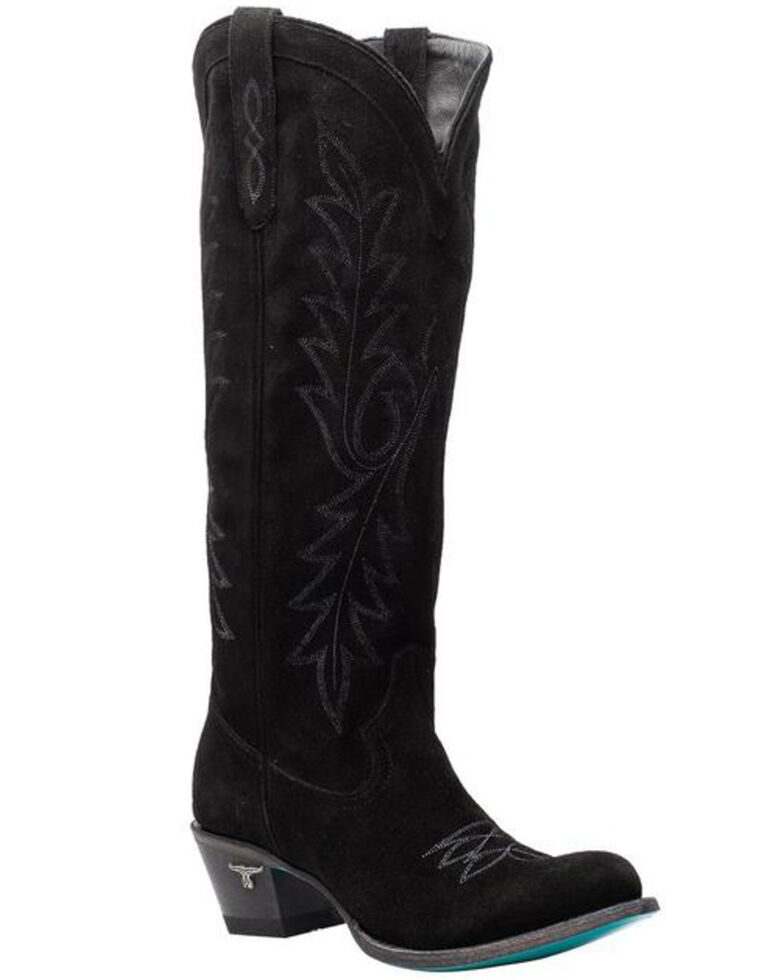 Lane Women's Fire Away Western Boots - Round Toe, Black, hi-res