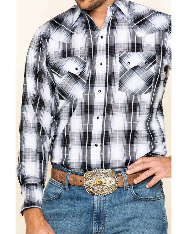 Ely Walker Men's Multi Med Plaid Long Sleeve Snap Western Shirt , , hi-res