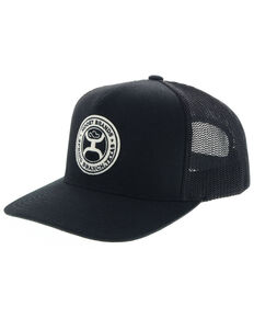 new product 53a6e 31c9b HOOey Men s Black Guadalupe Circle Patch Mesh Cap