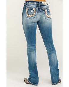 "Miss Me Women's Horse Medium Wash Bootcut 34"" Jeans, Blue, hi-res"
