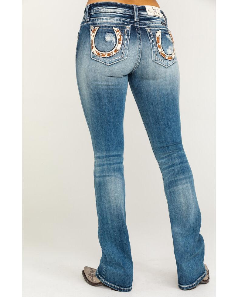 "Miss Me Women's Horse Medium Wash Bootcut 34"" Jeans, Blue, hi-res"