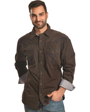 Moonshine Spirit Men's Jalisco Long Sleeve Shirt, Brown, hi-res