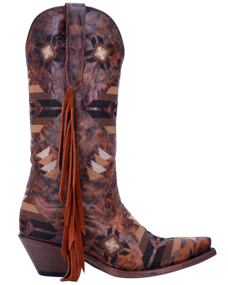 900d7aff7a4 Dan Post Women's Pueblo Fringe Western Boots - Snip Toe