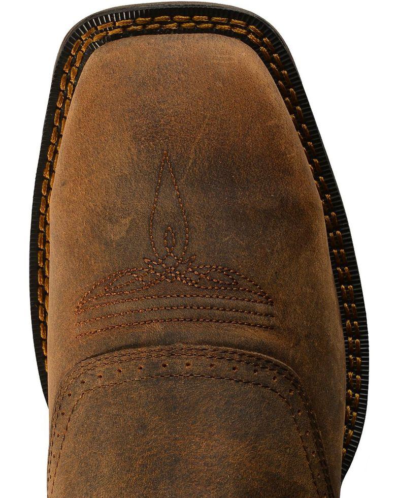 Rebel by Durango Men's Steel Toe Texas Flag Western Boots, Brown, hi-res