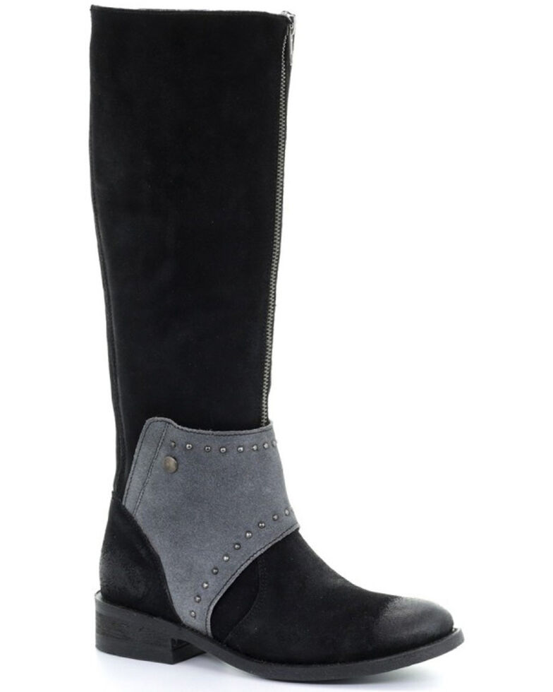 Corral Women's Black & Grey Mask Tall Top Boots - Round Toe, Black, hi-res