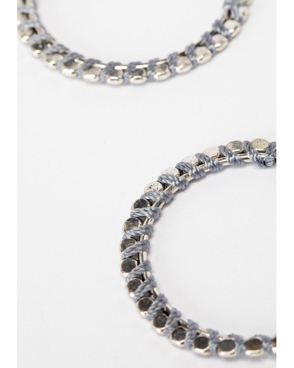 Shyanne Women's Slate Sparkle Grey Shimmer Hoops, Slate, hi-res