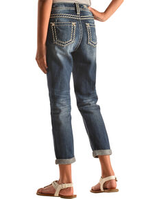 Miss Me Girls' Revolt Boyfriend Ankle Jeans, Indigo, hi-res