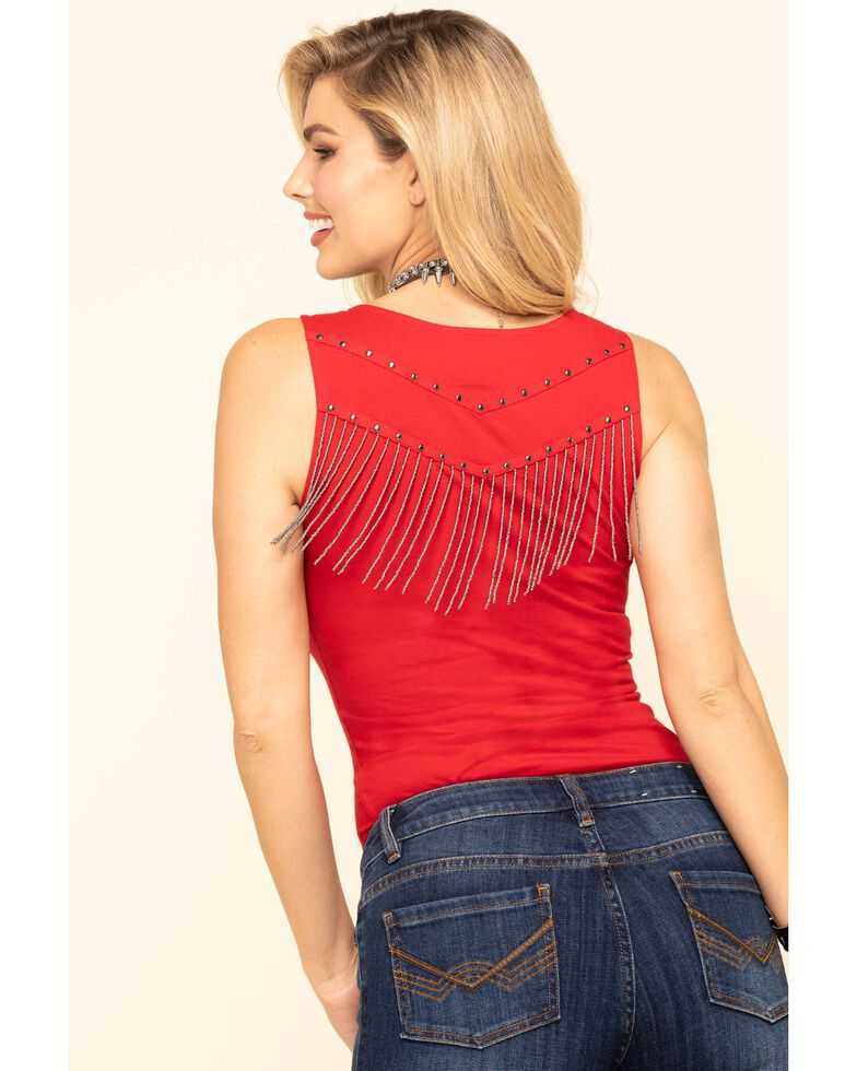 Idyllwind Women's Steal The Spotlight Tank , Red, hi-res