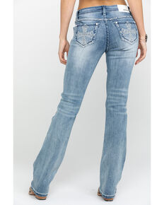 Grace in LA Women's Light Bootcut Cross Jeans, Blue, hi-res