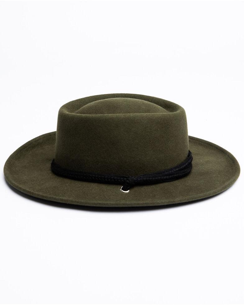 Shyanne Women's Wool Gambler Hat, Moss Green, hi-res
