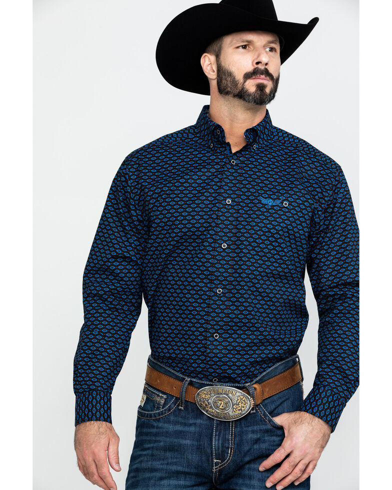 Ariat Men's Dynamite Aztec Geo Print Long Sleeve Western Shirt , Multi, hi-res