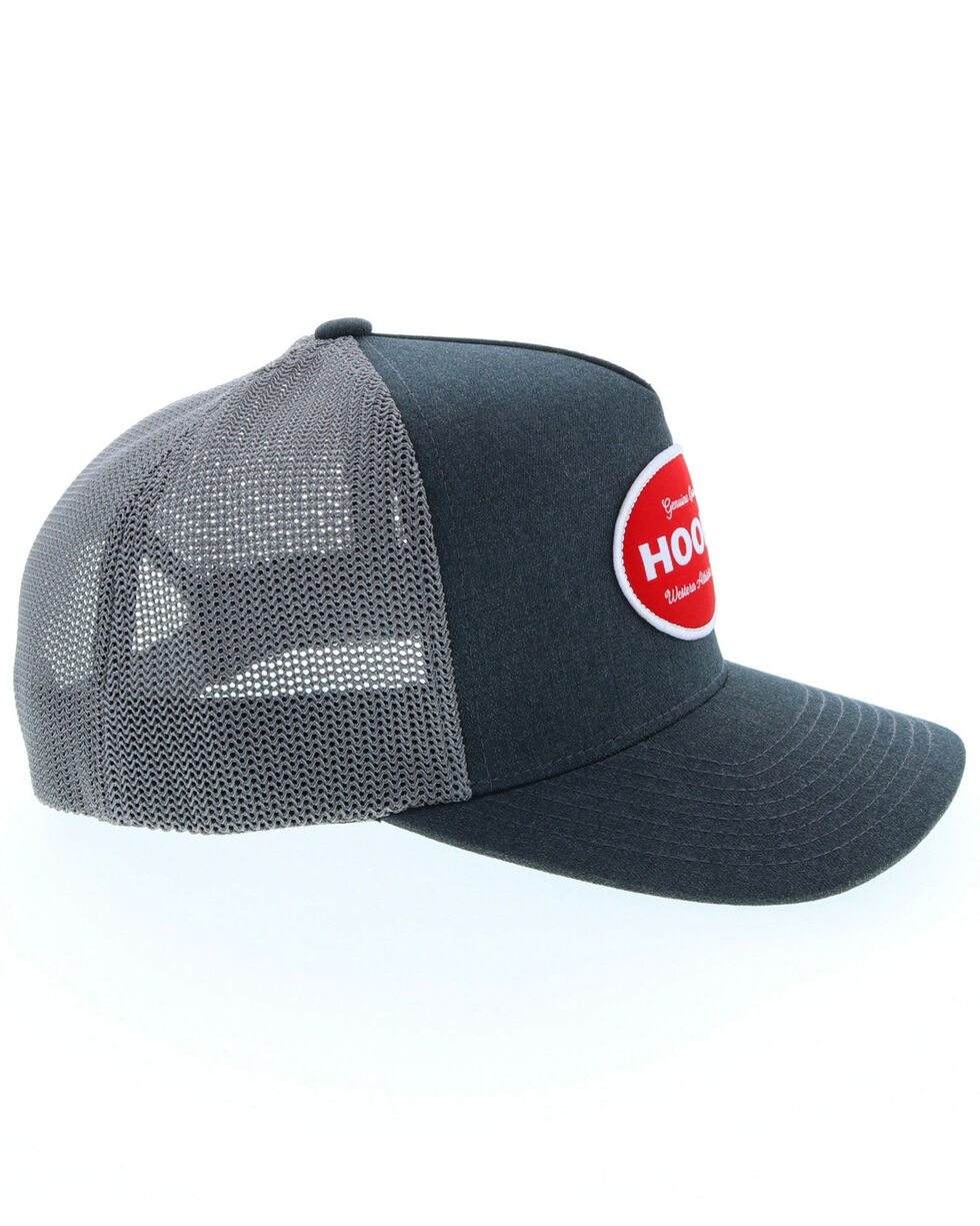 HOOey Men's Slater Grey & Red Circle Patch Trucker Cap, Grey, hi-res