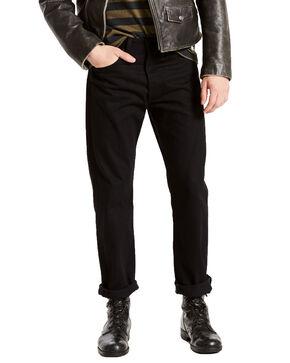 Levis Men's 501 Black Shrink-To-Fit Straight Stretch Jeans, Black, hi-res