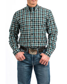 Cinch Men's Multi Modern Plaid Long Sleeve Western Shirt , Multi, hi-res