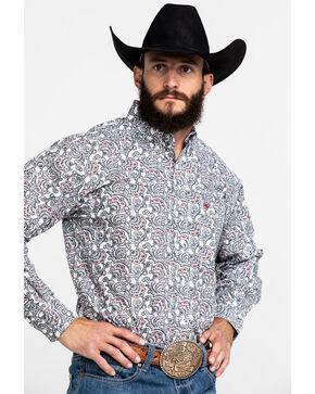 Ariat Men's Tedrick Long Sleeve Shirt, White, hi-res