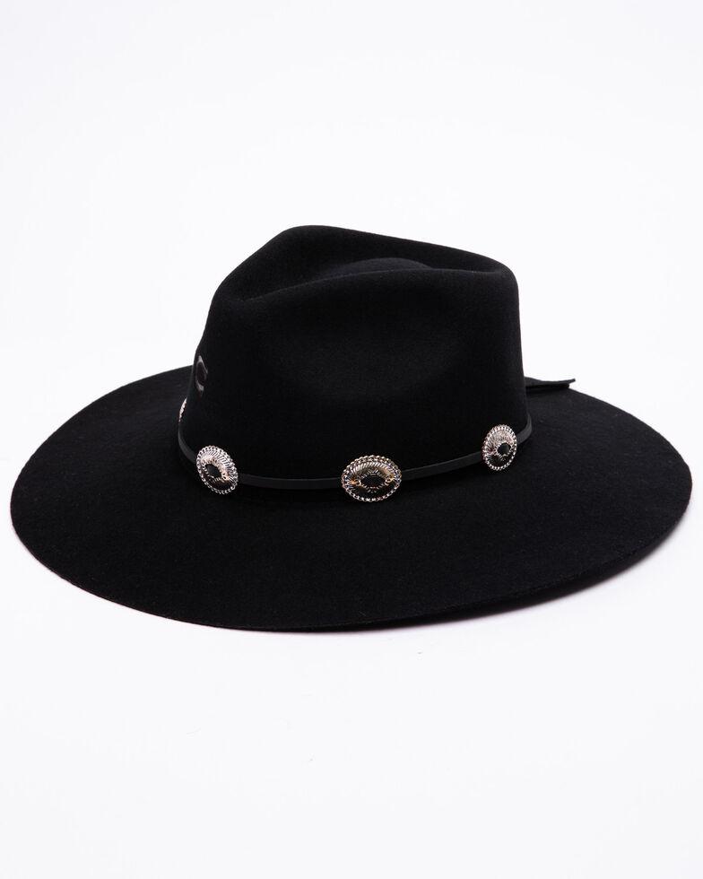 Charlie 1 Horse Women's Traveler Floppy Wool Hat, Black, hi-res
