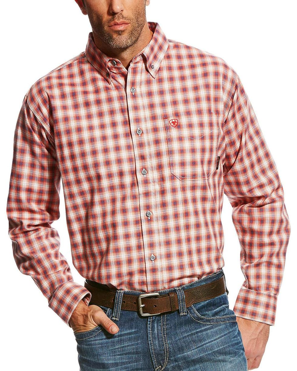 Ariat Men's Flame Resistant Lundy Work Shirt - Tall , Multi, hi-res