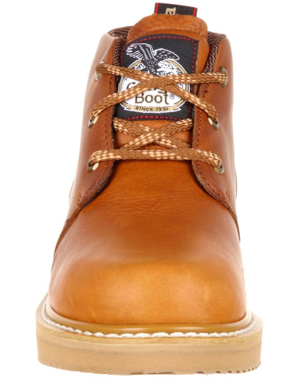 Georgia Boot Men's Wedge Chukka Work Shoes - Composite Toe, Brown, hi-res