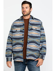 Pendleton Men's Blue Crescent Bay Aztec Quilted Shirt Jacket , Blue, hi-res