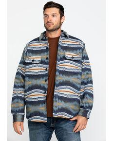 Pendleton Men's Blue Crescent Bay Aztec Quilted Shirt Jacket , Blue, hi-res