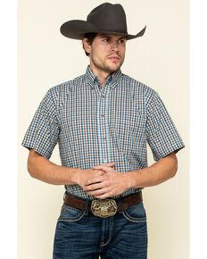 Wrangler Men's Riata Multi Small Plaid Short Sleeve Western Shirt , Multi, hi-res