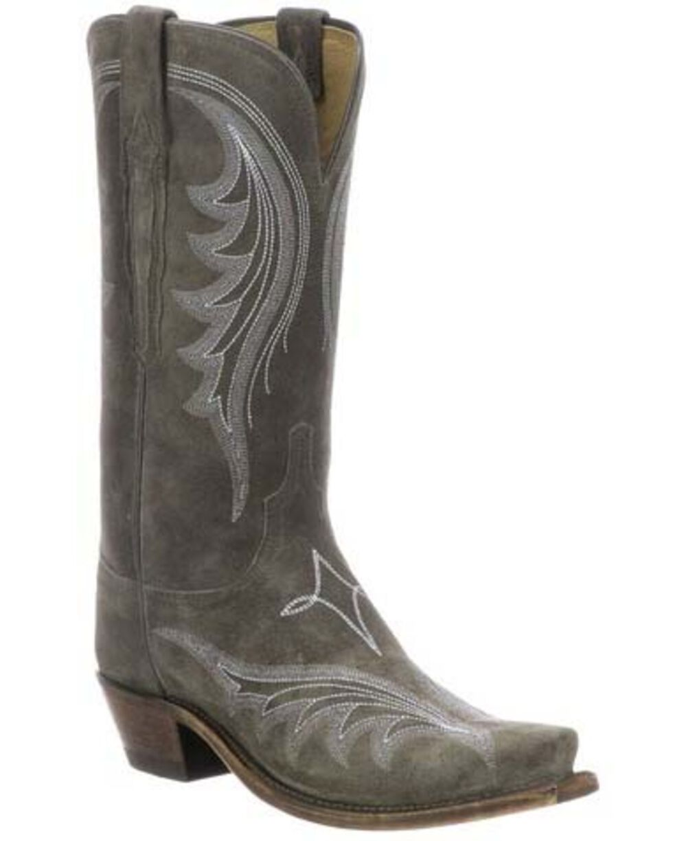 Lucchese Women's Margot Western Boots - Snip Toe, Grey, hi-res