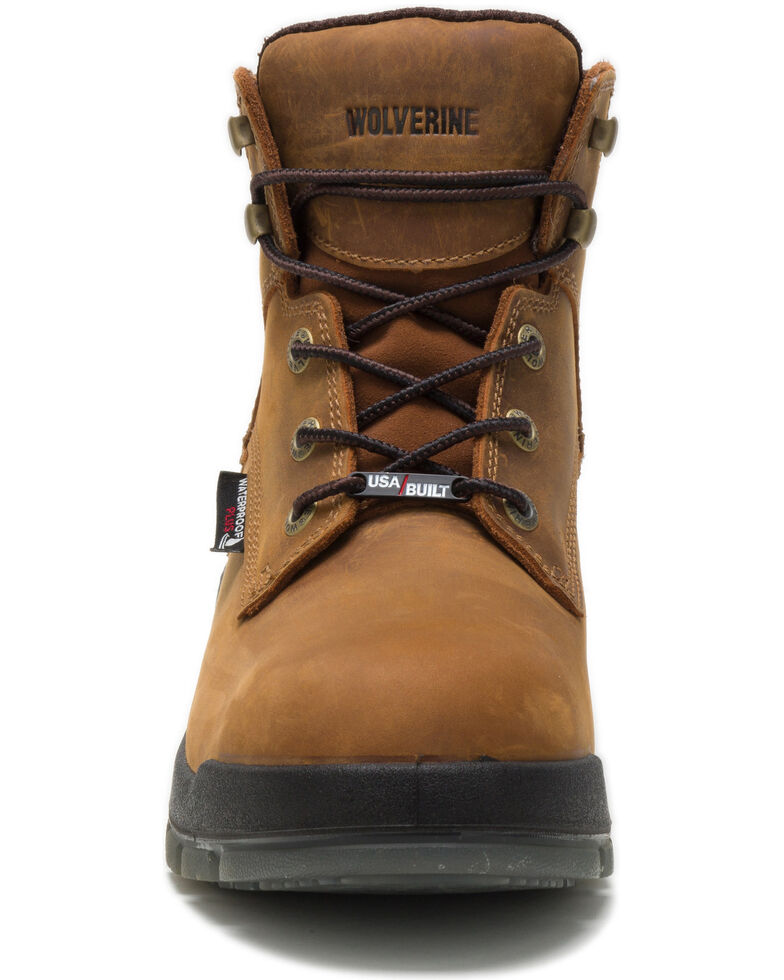 Wolverine Men's Tan Ramparts Waterproof Work Boots - Composite Toe, Tan, hi-res