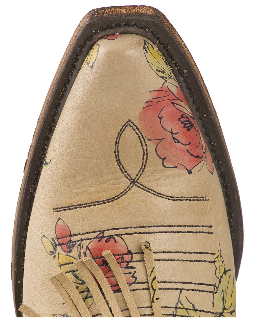 Junk Gypsy by Lane Lane Women's Spitfire Floral Fringe Booties - Snip Toe, Multi, hi-res