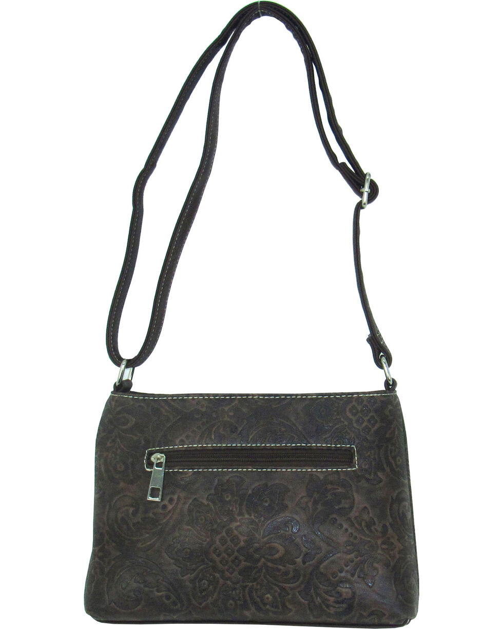 Savana Women's Tooled Embellished Crossbody Bag, , hi-res
