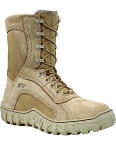 Rocky Men's S2V Soft Toe Vented Military Boots, Tan, hi-res